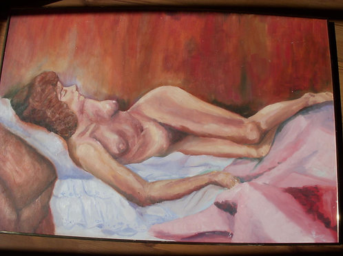 Reclining Nude- Original - Oil on Board
