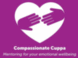 Compassionate Cuppa Company Logo with purple background
