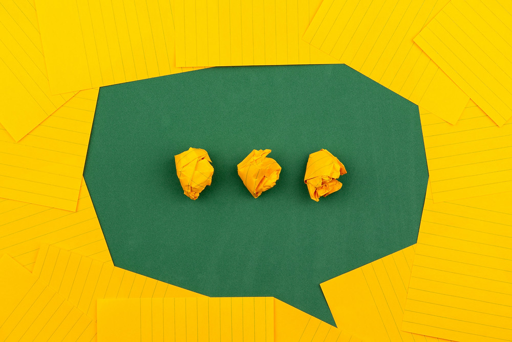 Speech Bubble from Origami