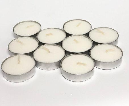 10 נרות לבנים למבער
