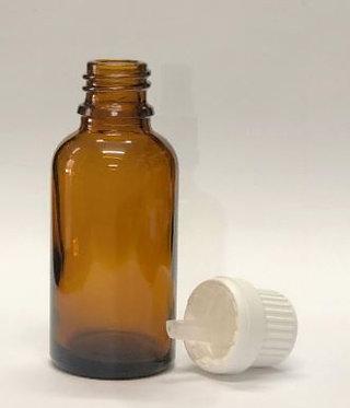 """בקבוק זכוכית עם פקק מטפטף 10 מ""""ל (5-20 יחידות)"""