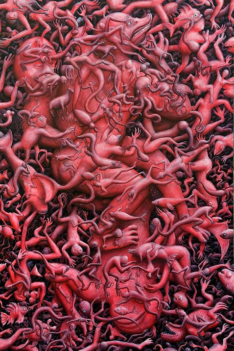 Ex Nihilo 6, 2016, akril na platnu, 160