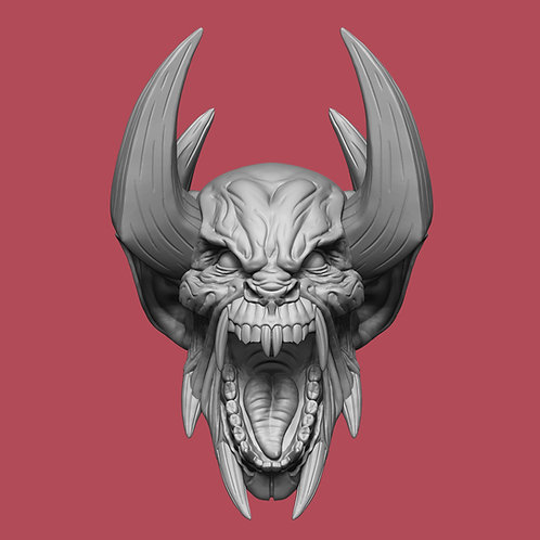 Da Khin, open mouth w/horns