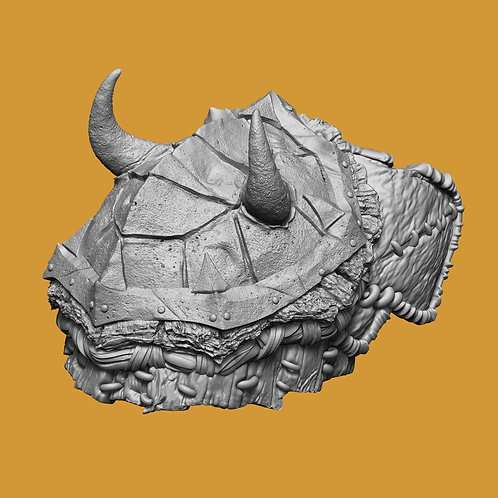 Metal Turtle Shell Shoulder Pad