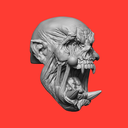 Orc Zombie (W/ Falling Eyeball)