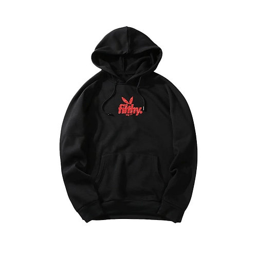 filthy. Red on Black BunnyPullover Hoodie