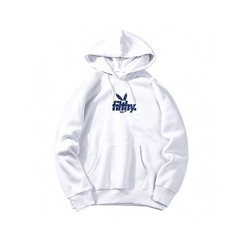 filthy. Blue on White BunnyPullover Hoodie