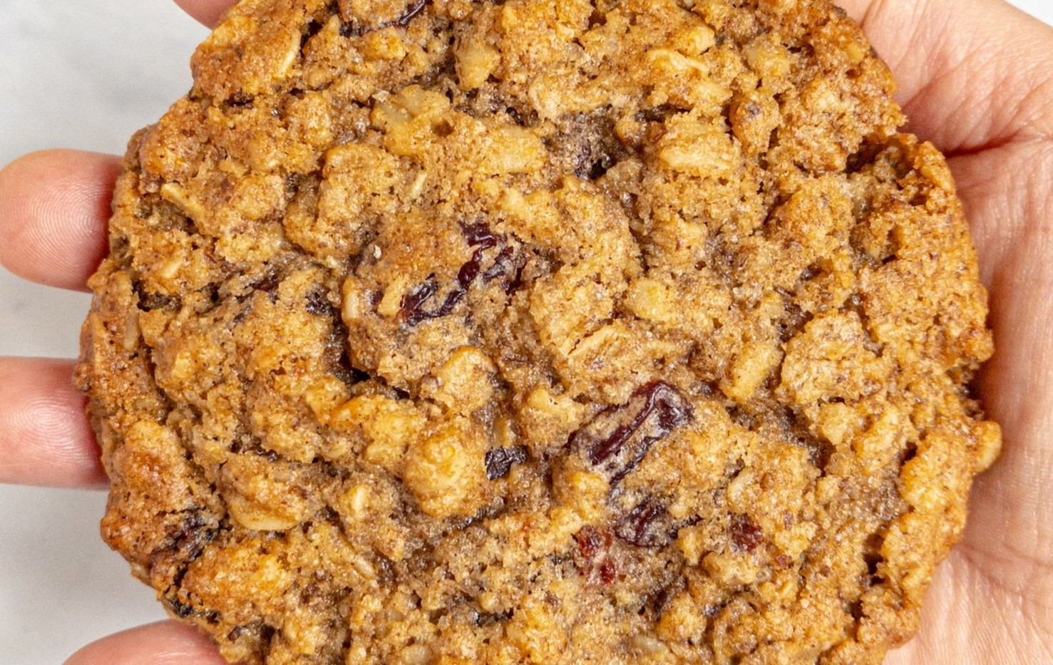 Oatmeal Cherry Cookie Size
