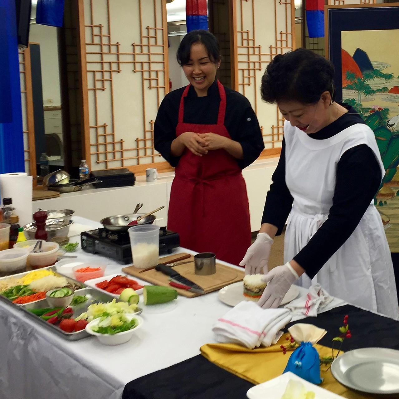 Korean food styling demo