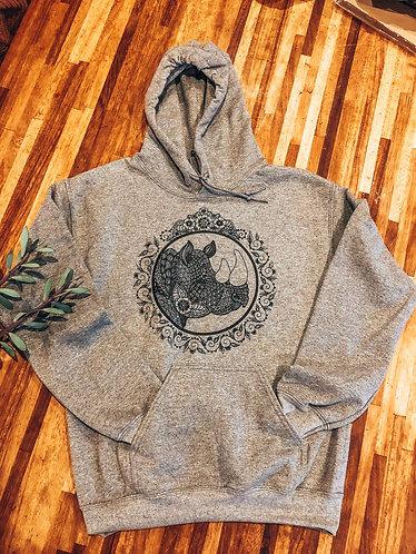 Rhino Mandala Hoodie