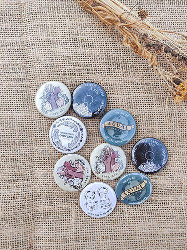 Eco pin badges