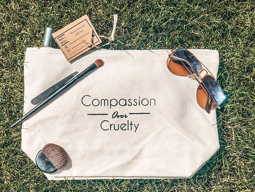 Compassion over Cruelty - Large Accessory Bag