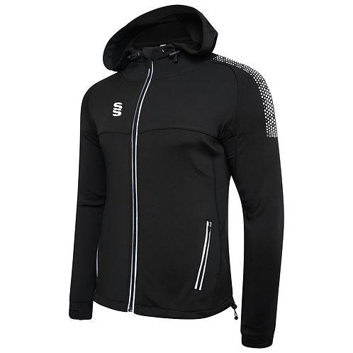 Black Dual Zipped Hoodie
