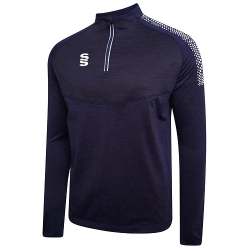 Navy Dual Quarter Zip Performance Top