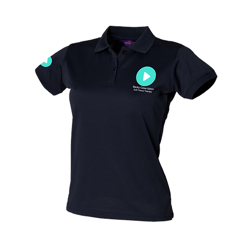 Ladies Fit Polo Shirt (Navy)
