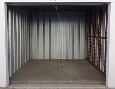 Inside of a storage unit.