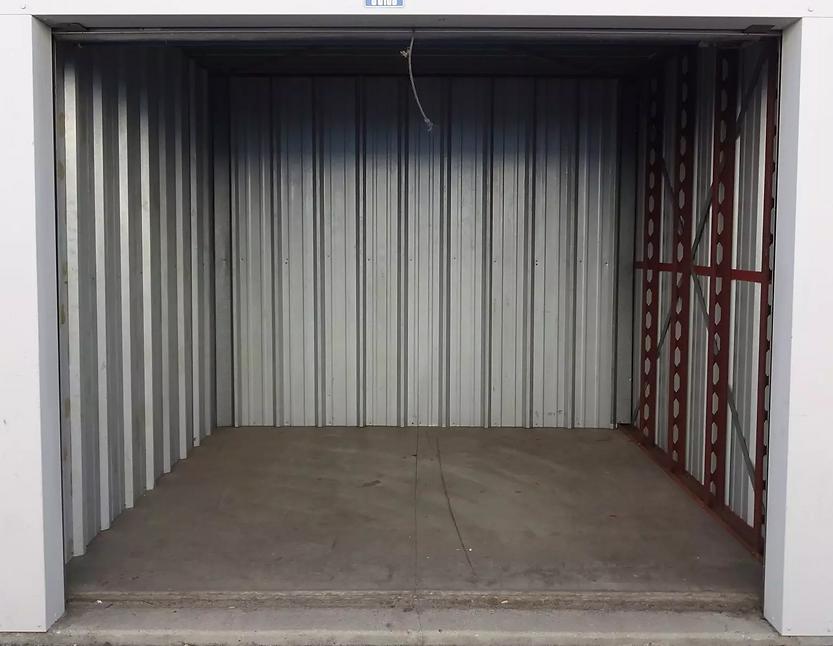 Inside of a storage unit.