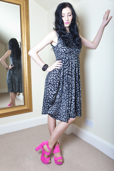 Leopard Print Empire Line Dress