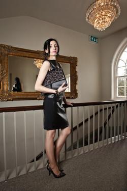 Panelled Mini Skirt in Black