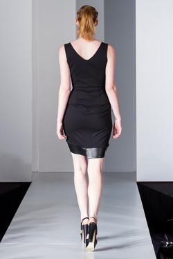 Black leopard ruffle dress