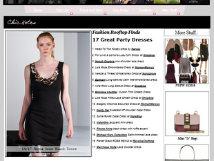Rhona Anne featured in 17 Great Party Dresses!