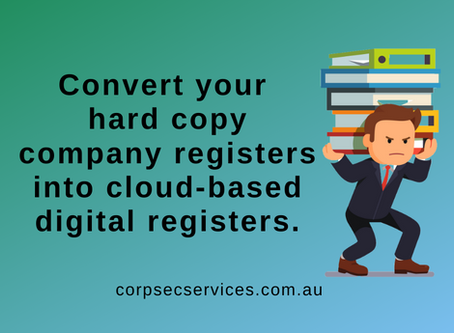 CorpSec Services can convert your hard copy or lost registers into cloud-based digital registers.