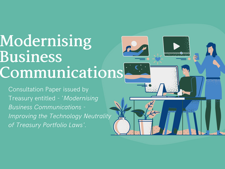 Modernising Business Communications & the Corporations Act 2001 (Cth)