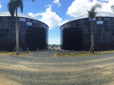 INAUGURATION OF LARGEST BOLTED GLASS-FUSED-TO-STEEL TANKS IN THE WORLD