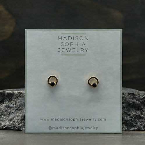 Cara Studs with Spinel in 14k Vermeil