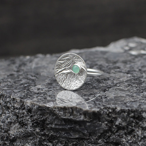 Revolve Ring with Chrysoprase