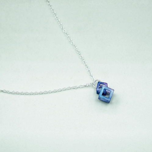 Mini Cube Drop Pendant