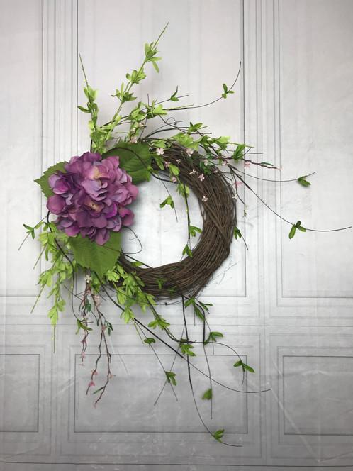 Hydrangea Wreath Summer Wreath Front Door Wreath
