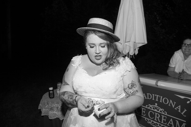 quirky wedding bride in brighton