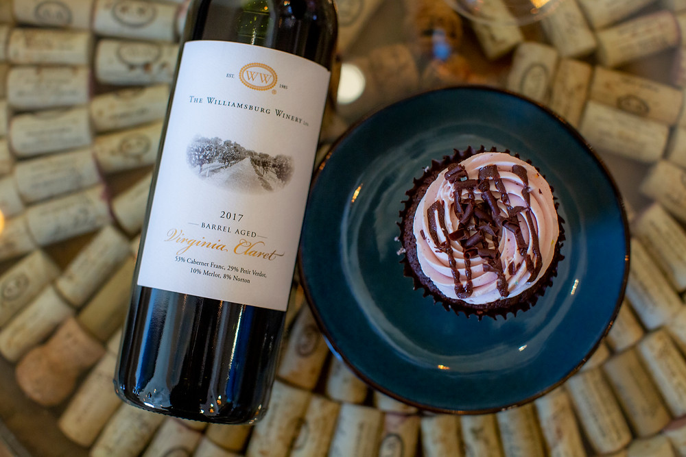 A Blackberry Merlot infused cupcake by Twisted Sisters Cupcakes