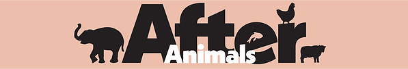 After Animals logo with an elephant, fish, hen and cow