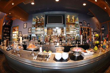 BTB fish eye shot of bar - very cool and