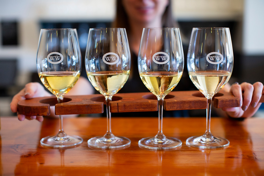 Wine Tastings are offered in the form of Flights