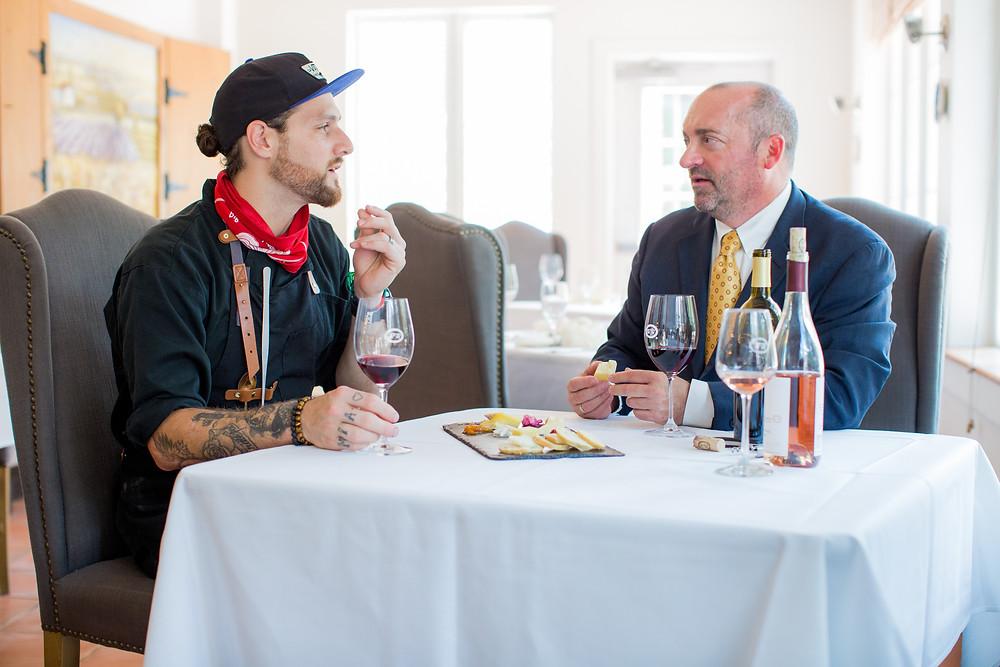 Chef David and Winemaker Matthew Meyers