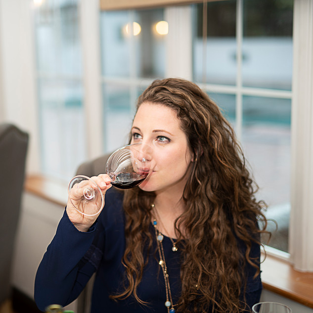 Tasting Wine at the Café