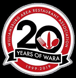 WARA 20 year logo.png