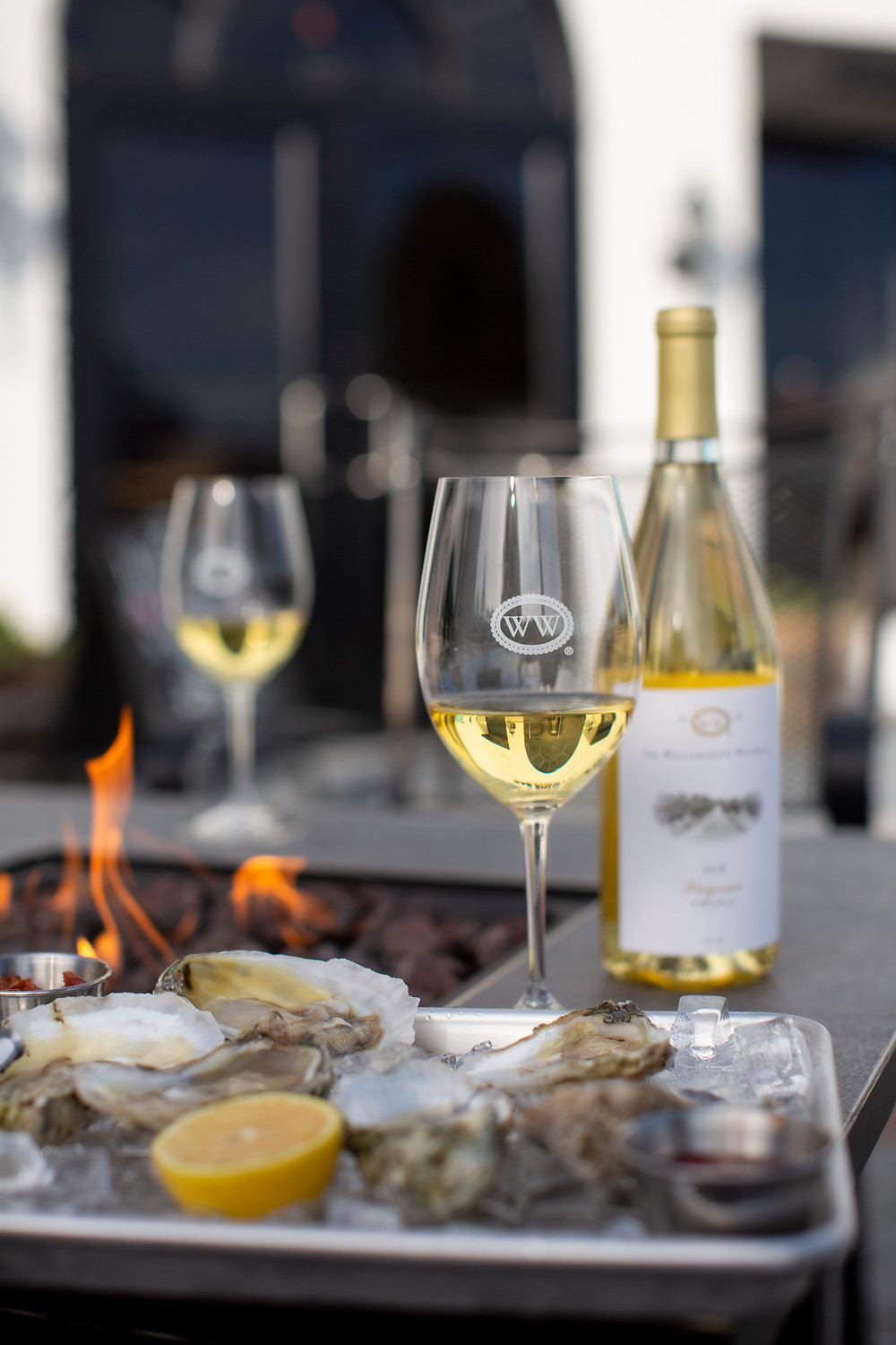 Virginia Oysters being enjoyed by the fire pit