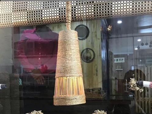 Raffia Bamboo Weave Wrap Pendant Shade