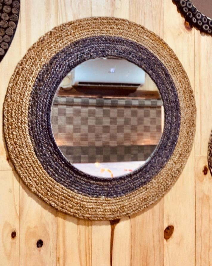 Banana Fibre Woven Mirror PHOTO-2020-08-