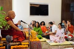 Geshe Lhakdor Teaching at Lotus Lounge