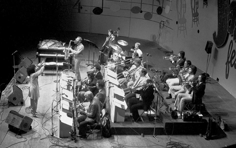 Toshiko Akiyoshi-Lew Tabackin Big Band at Monterey Jazz Festival, Monterey, CA, in 1981, Brian Mcmillen