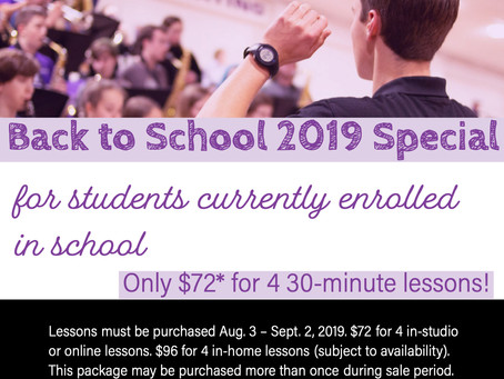 2019 Back to School Special