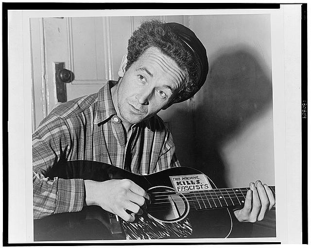 Guthrie and His Guitar in 1943 from LoC