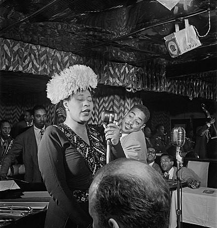 With Dizzy and other Jazzmen, Sept. 1947