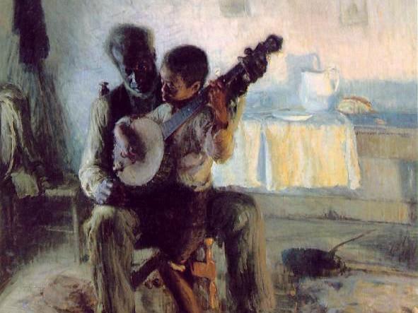 The Banjo Lesson Crop