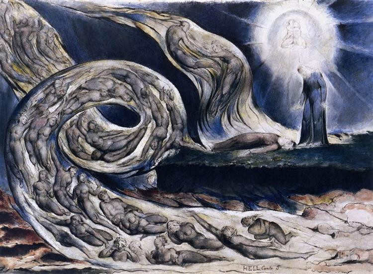 William Blake, The Lovers Whirlwind (1824 - 1827)